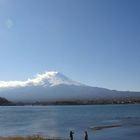 河口湖 富士をみて バンフを思い出す
